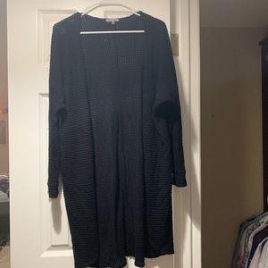 simple black cardigan